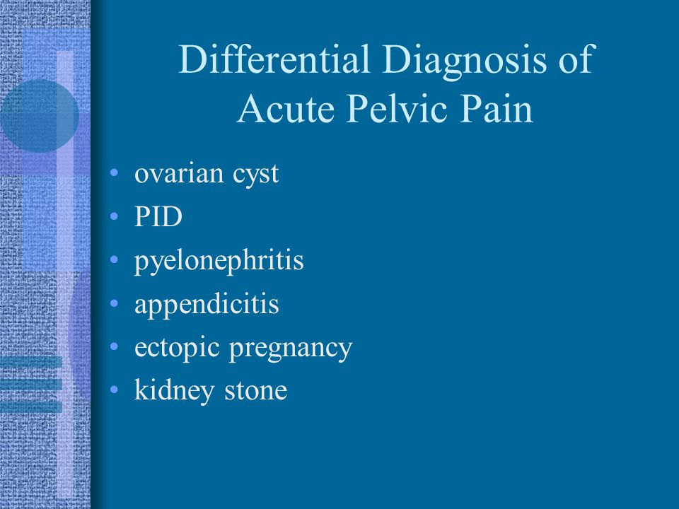 Differential Diagnosis of Acute Pelvic Pain
