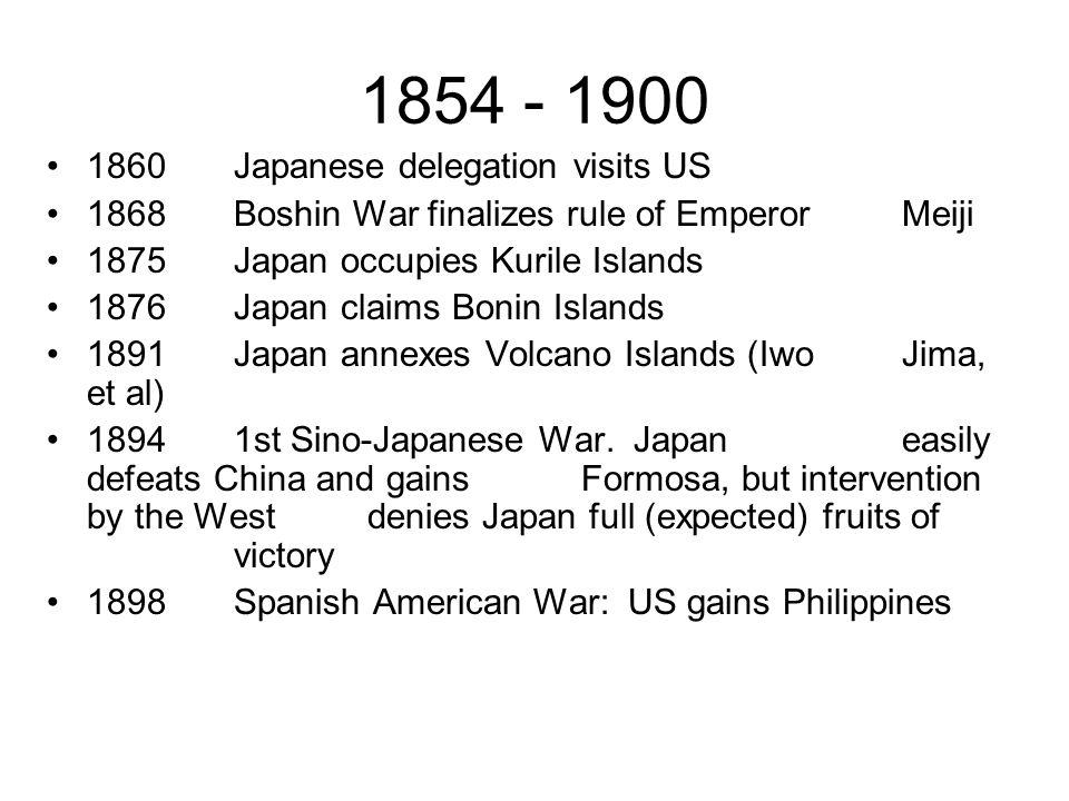 1854 - 1900 1860 Japanese delegation visits US