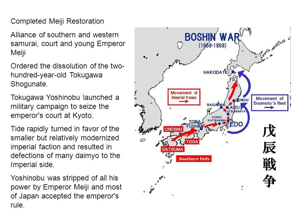 Completed Meiji Restoration