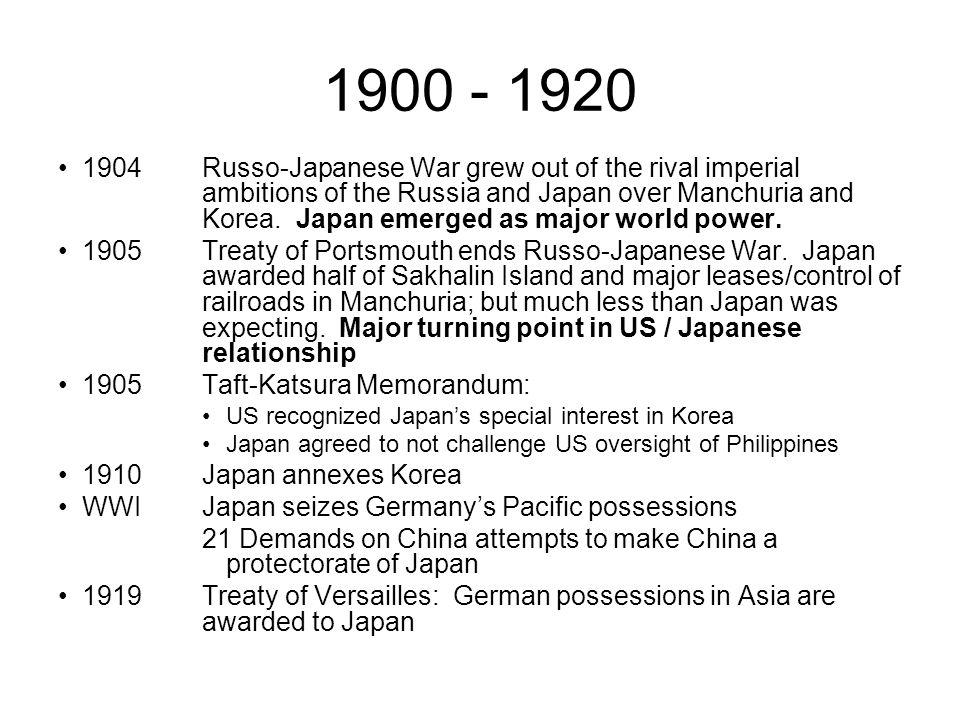 1900 - 1920