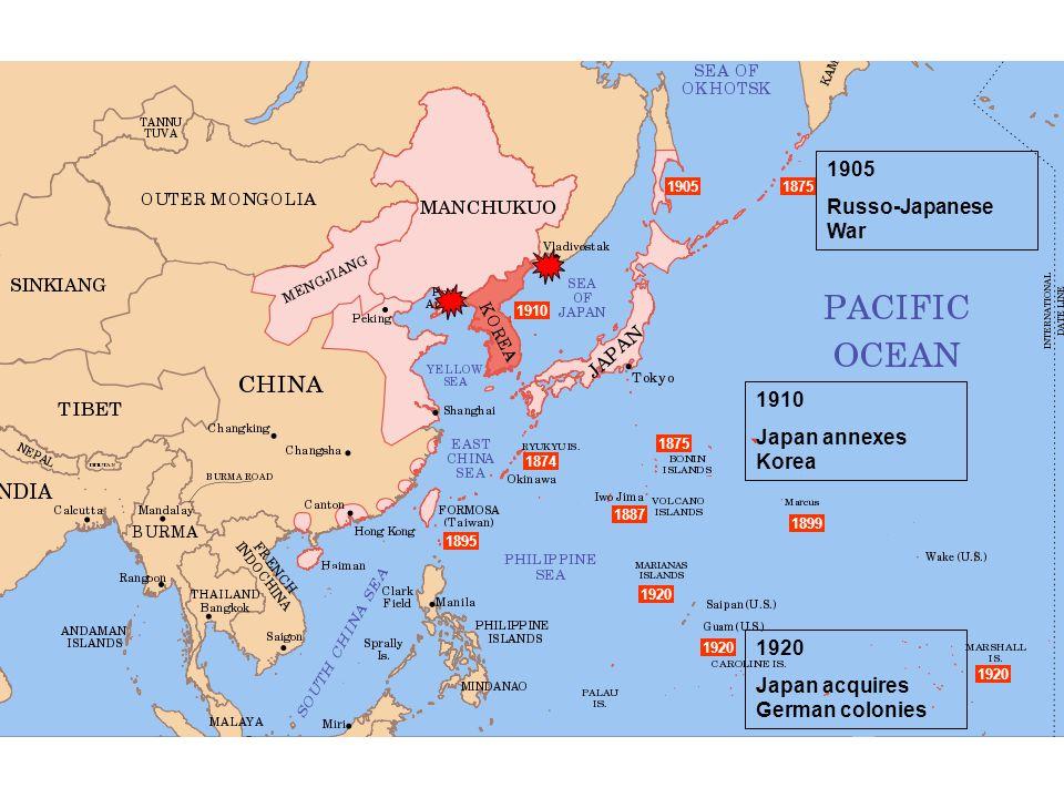 Japan acquires German colonies