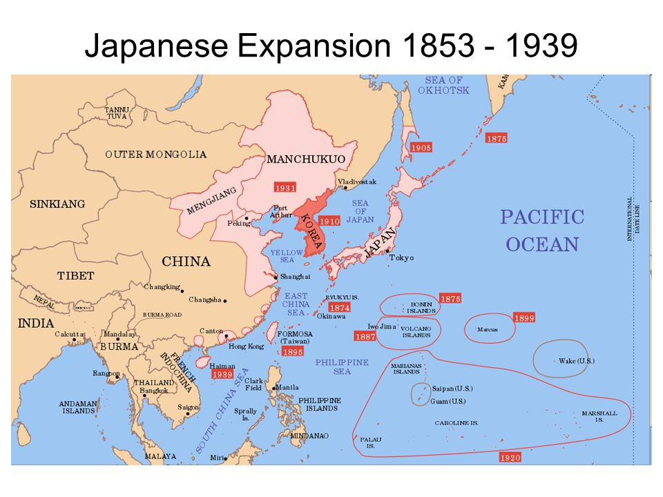 Japanese Expansion 1853 - 1939