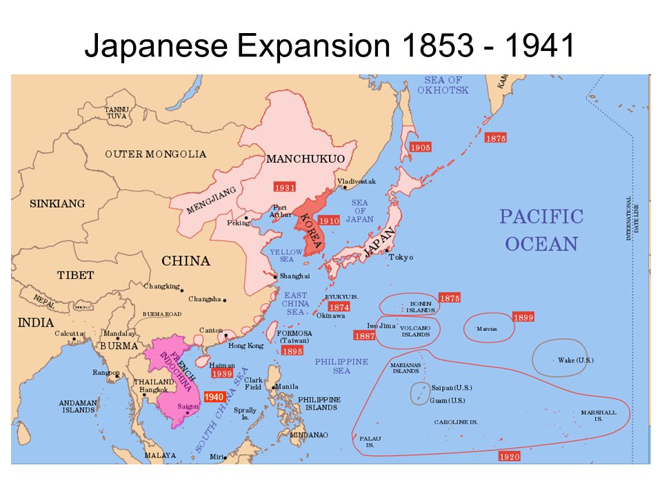 Japanese Expansion 1853 - 1941 1940