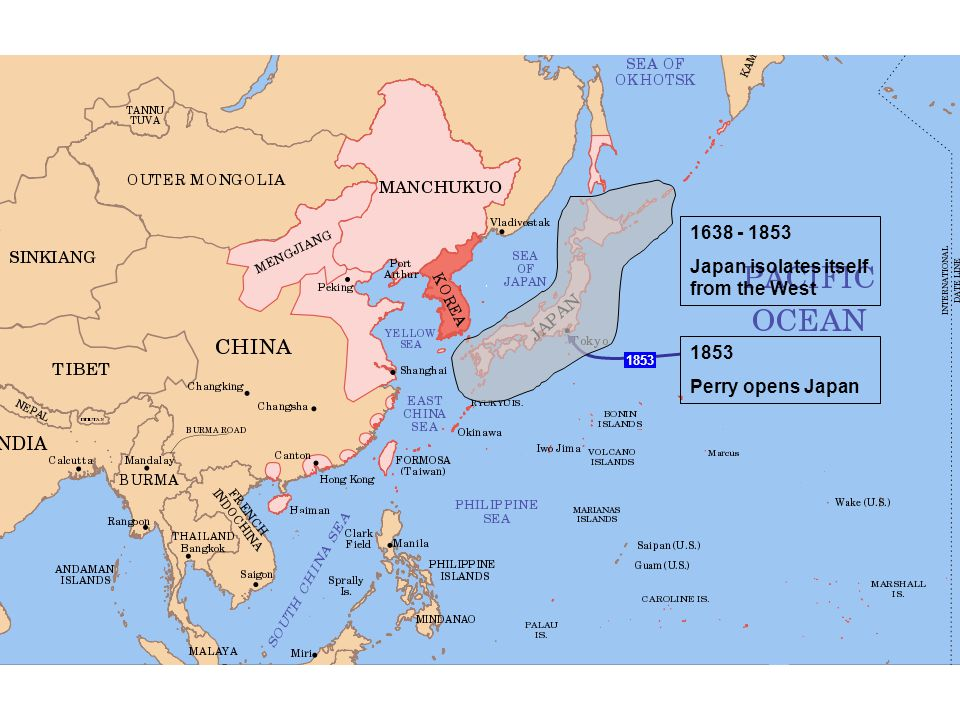 Japan isolates itself from the West