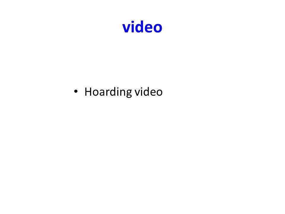 video Hoarding video