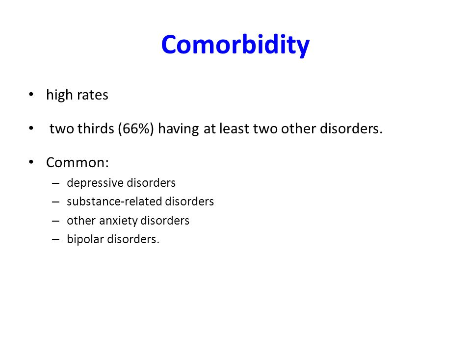 Comorbidity high rates