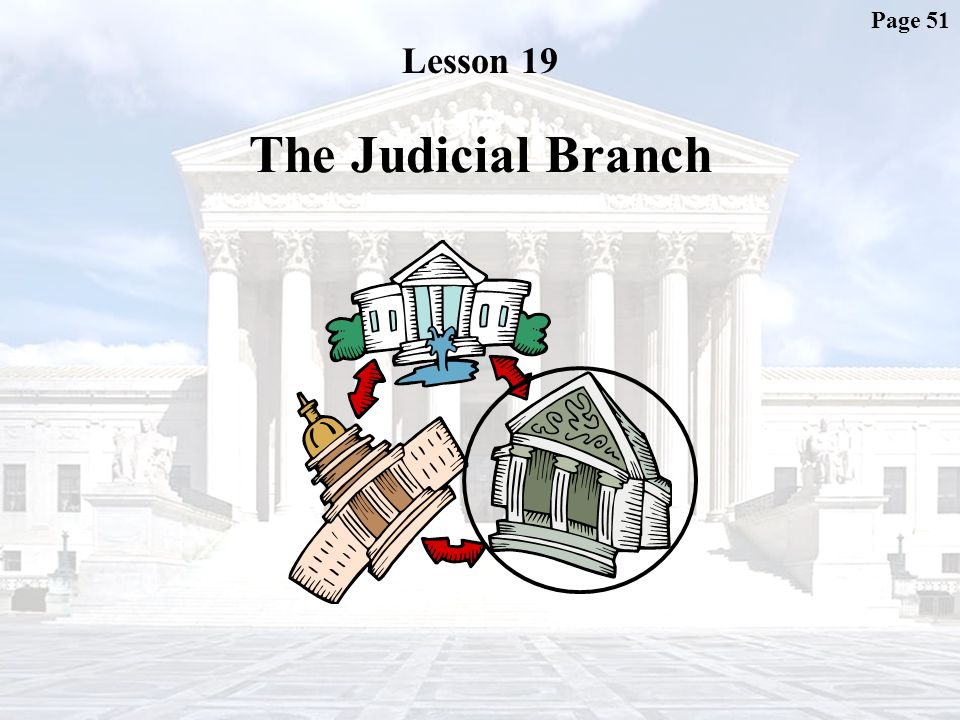 Page 51 Lesson 19 The Judicial Branch