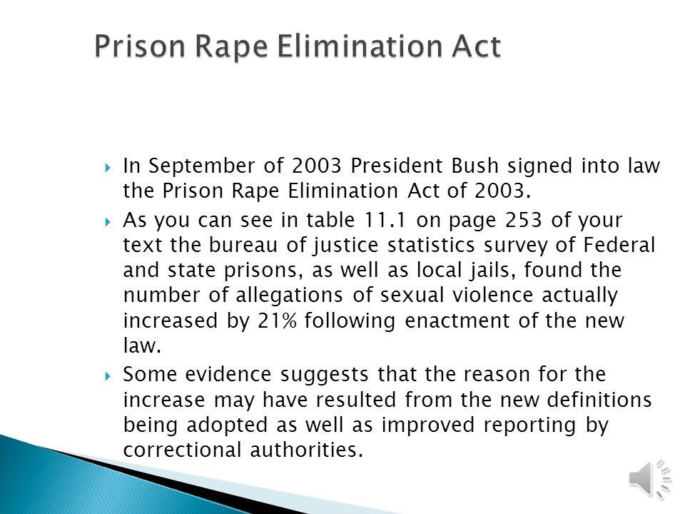Prison Rape Elimination Act