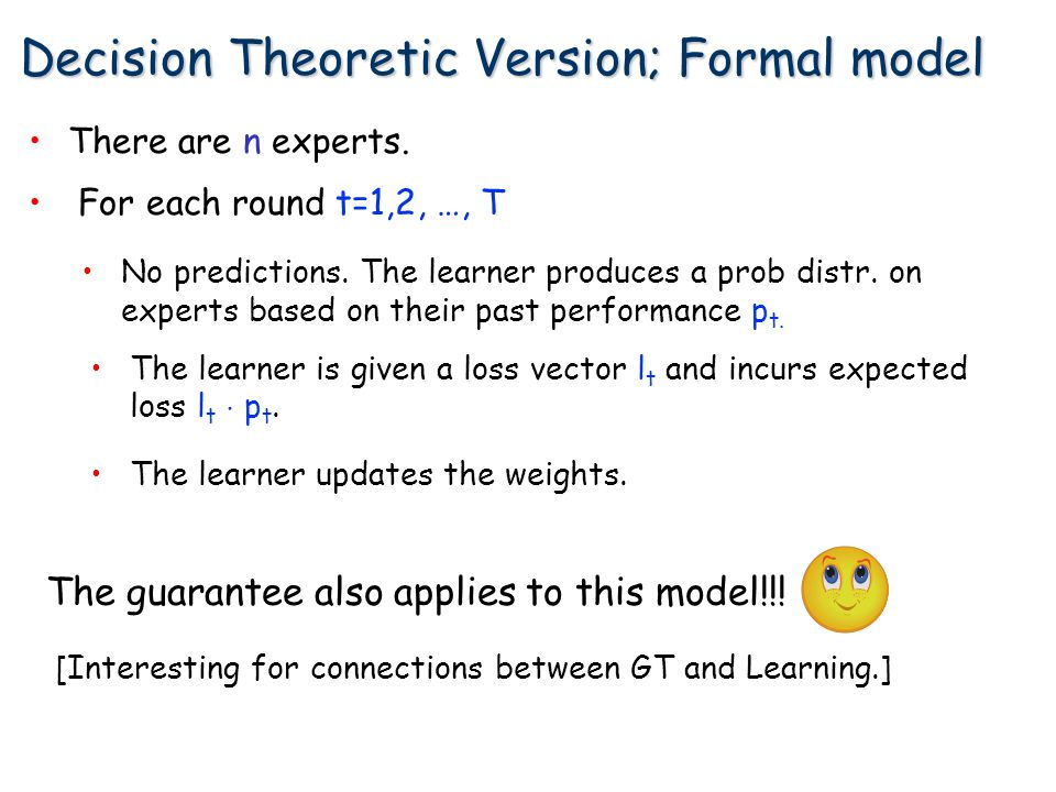 Decision Theoretic Version; Formal model