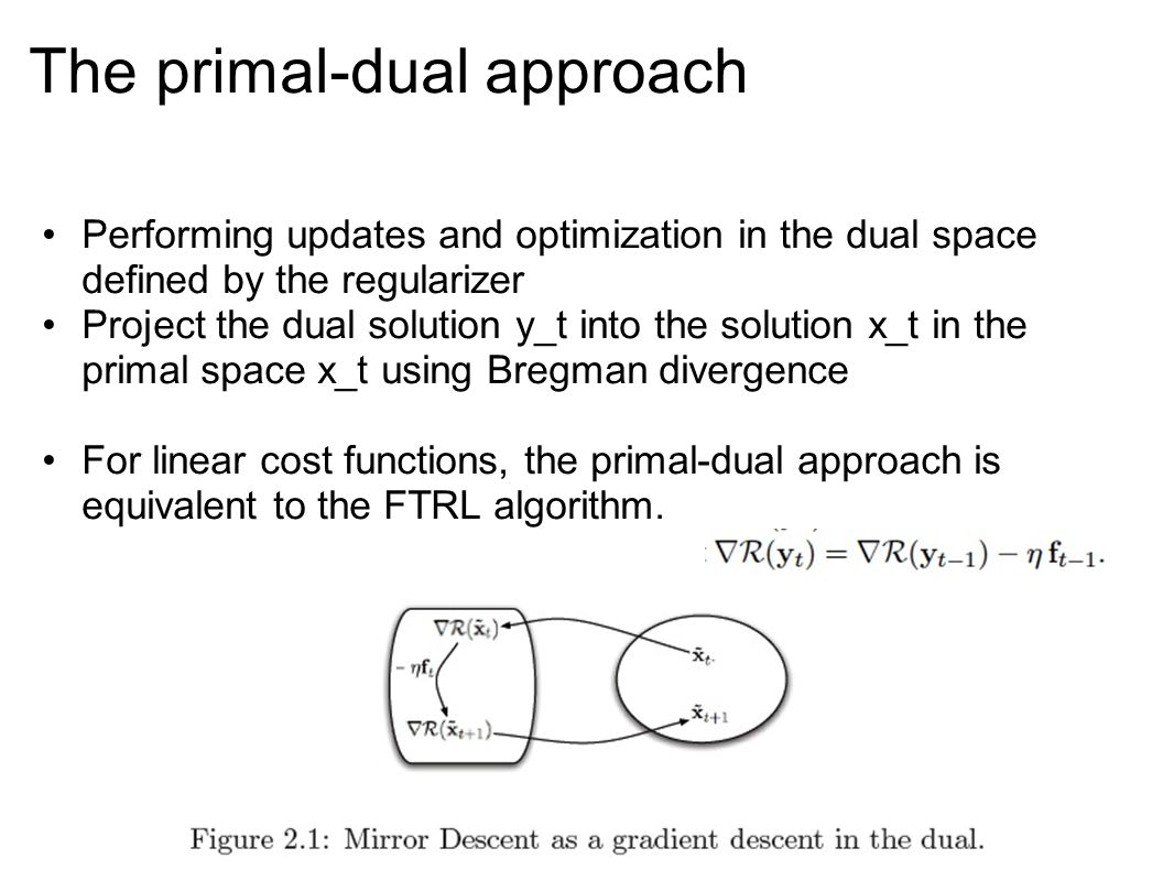 The primal-dual approach