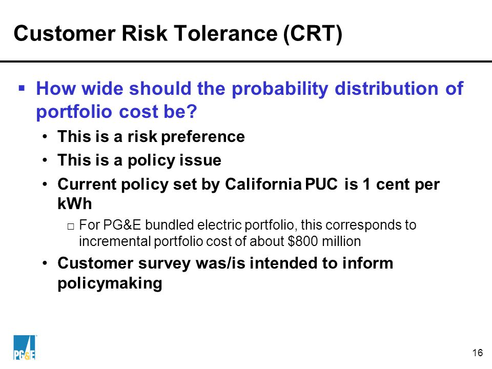 3. California PUC's Risk Management Policy