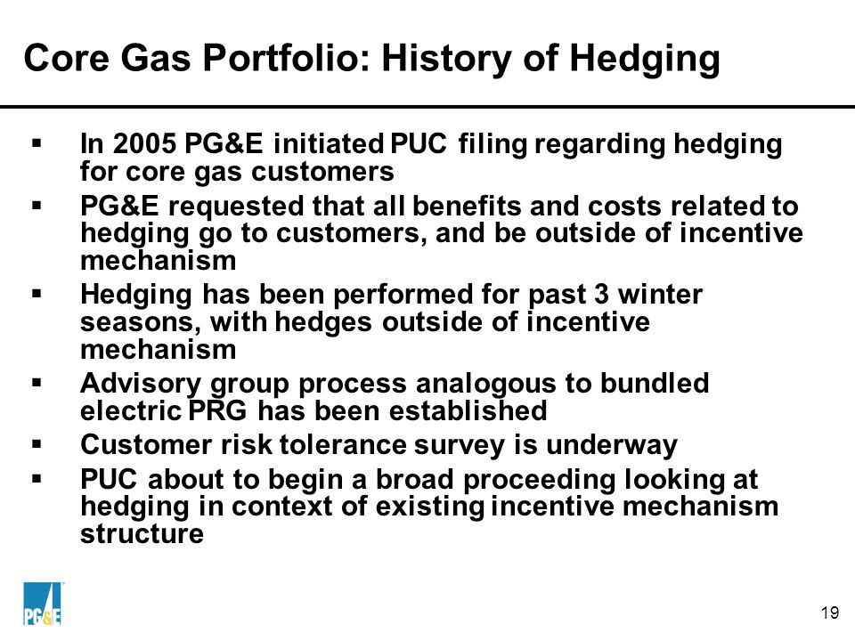Contents Introduction to energy procurement at PG&E