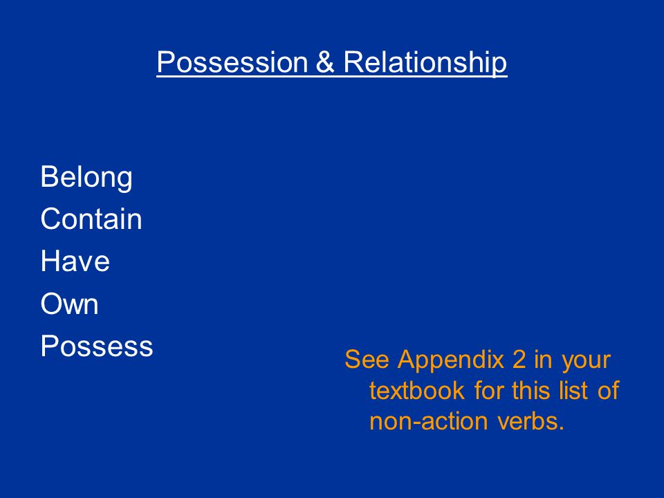 Possession & Relationship