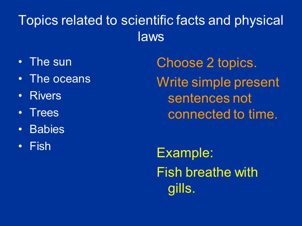 Topics related to scientific facts and physical laws