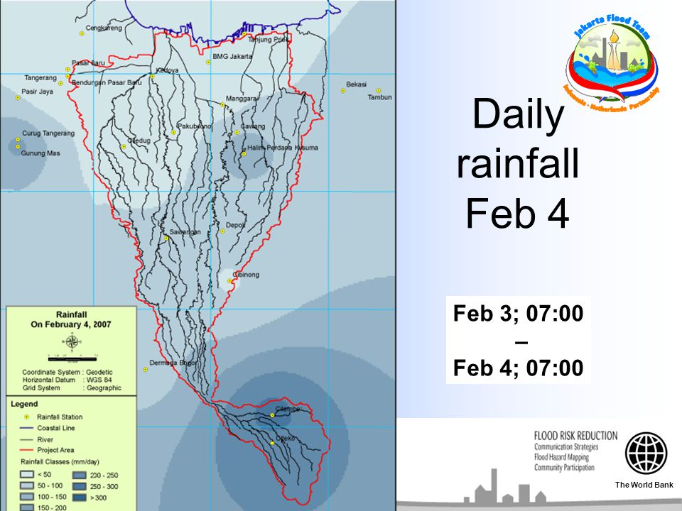 Daily rainfall Feb 4 Feb 3; 07:00 – Feb 4; 07:00 The World Bank