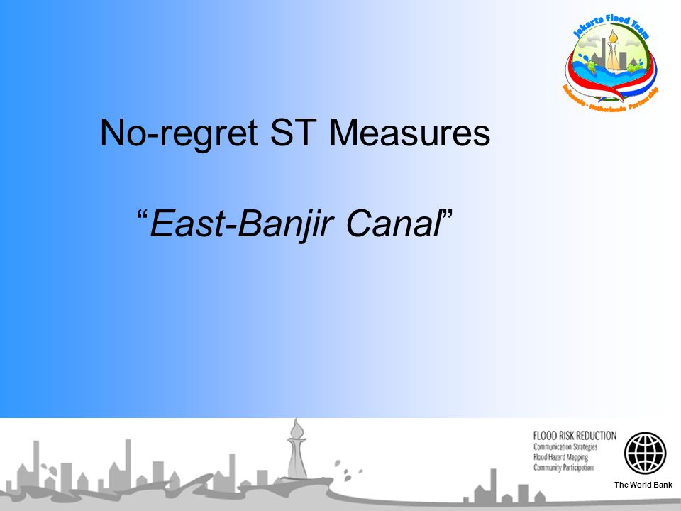 No-regret ST Measures East-Banjir Canal