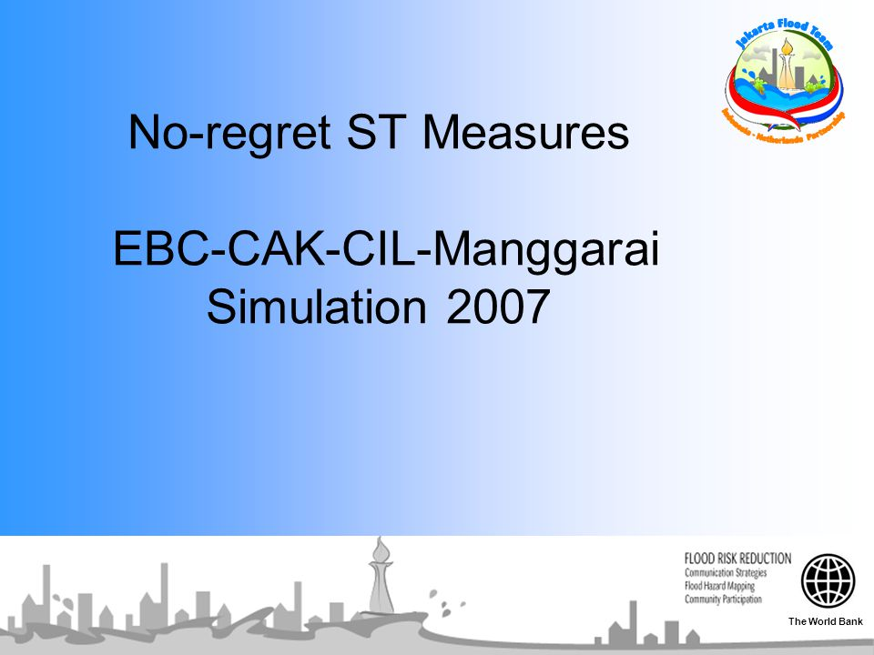 No-regret ST Measures EBC-CAK-CIL-Manggarai Simulation 2007