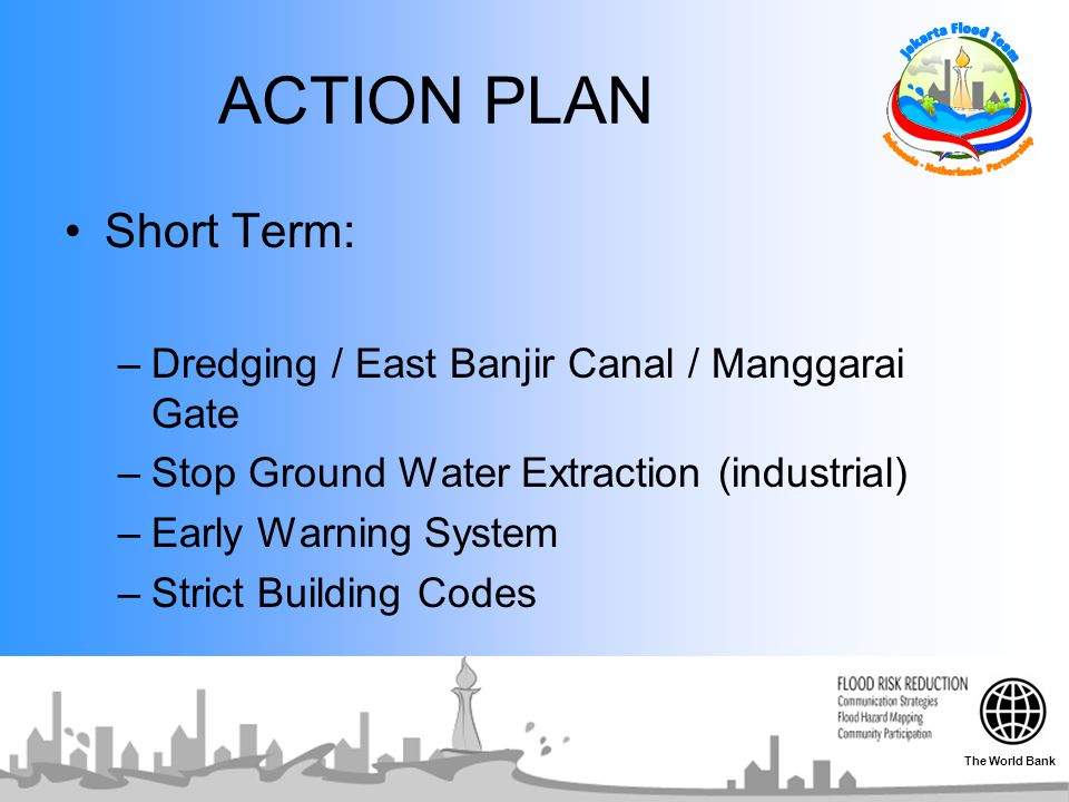 ACTION PLAN Short Term: Dredging / East Banjir Canal / Manggarai Gate