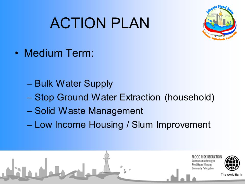 ACTION PLAN Medium Term: Bulk Water Supply