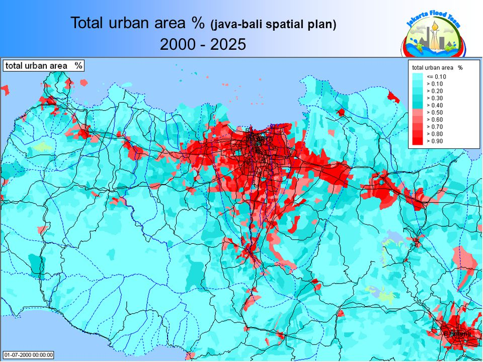 Total urban area % (java-bali spatial plan)