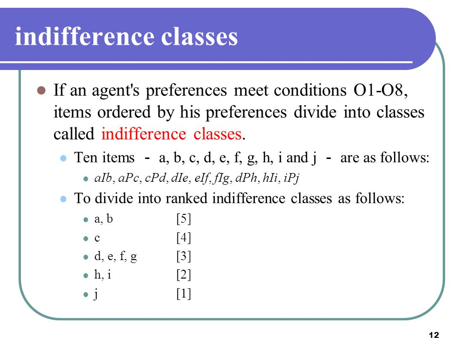 indifference classes