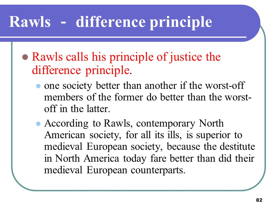 Rawls - difference principle
