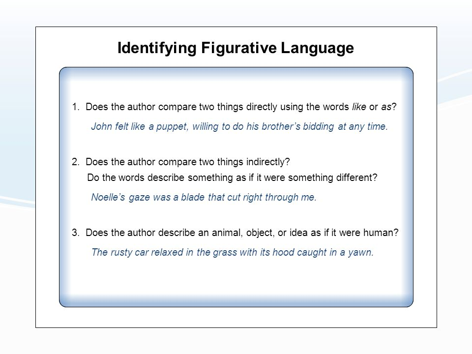 Identifying Figurative Language