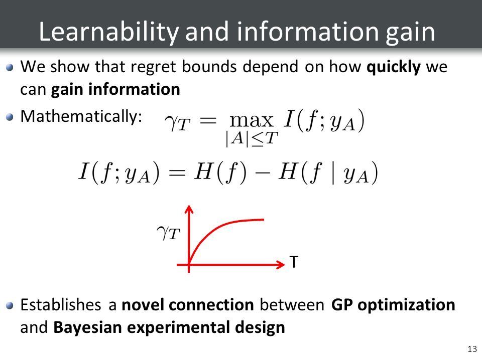 Learnability and information gain