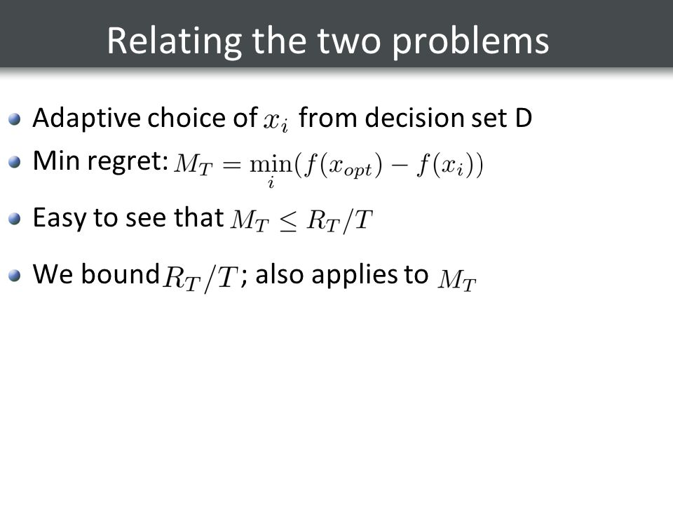 Relating the two problems