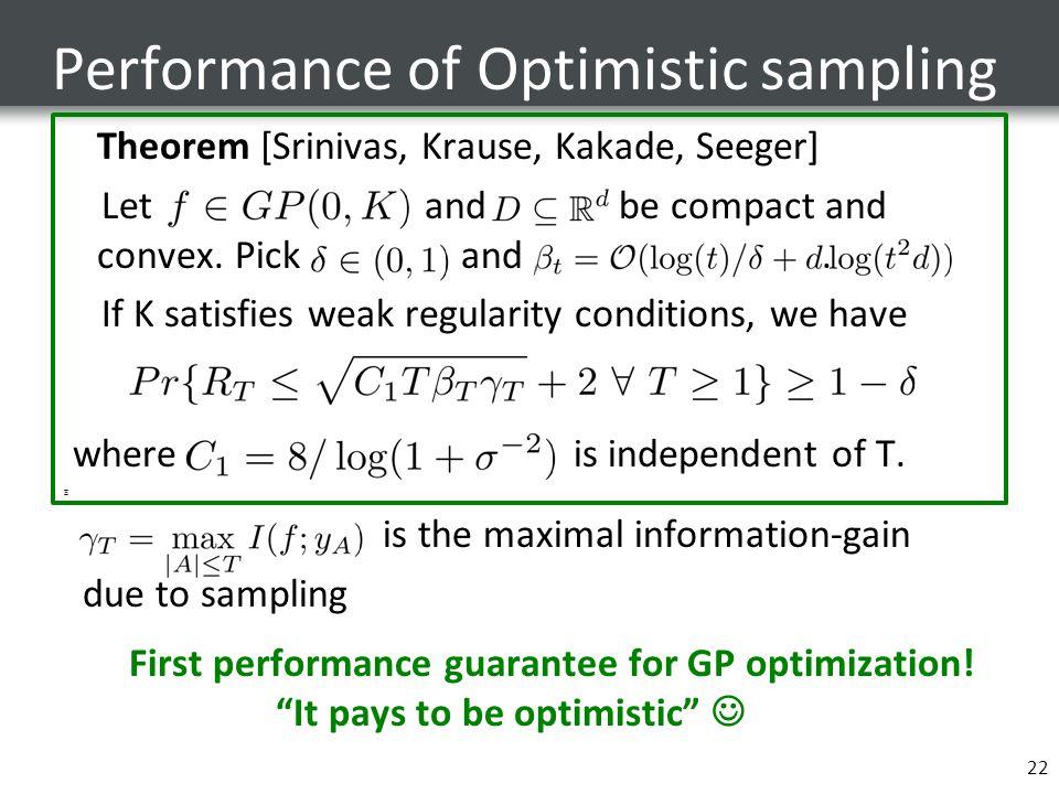 Performance of Optimistic sampling