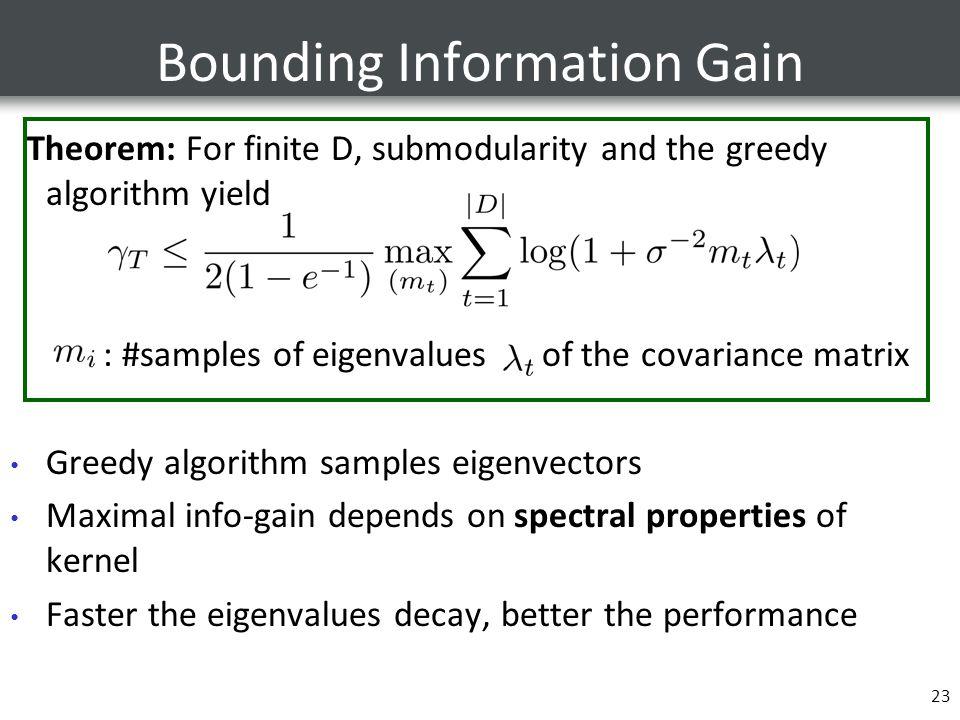 Bounding Information Gain