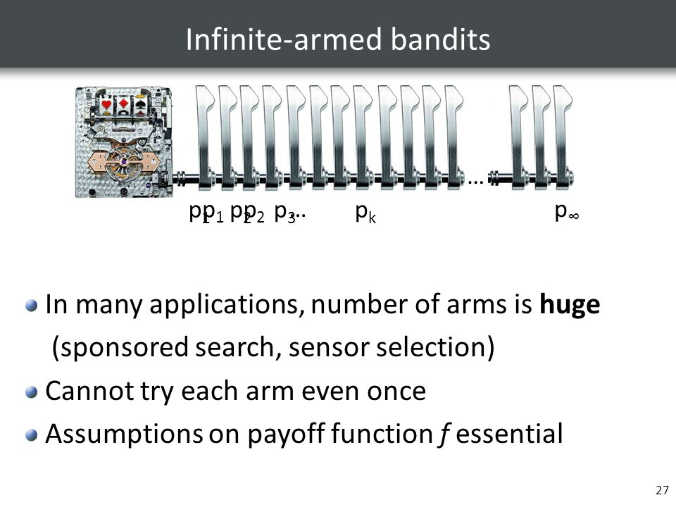 Infinite-armed bandits