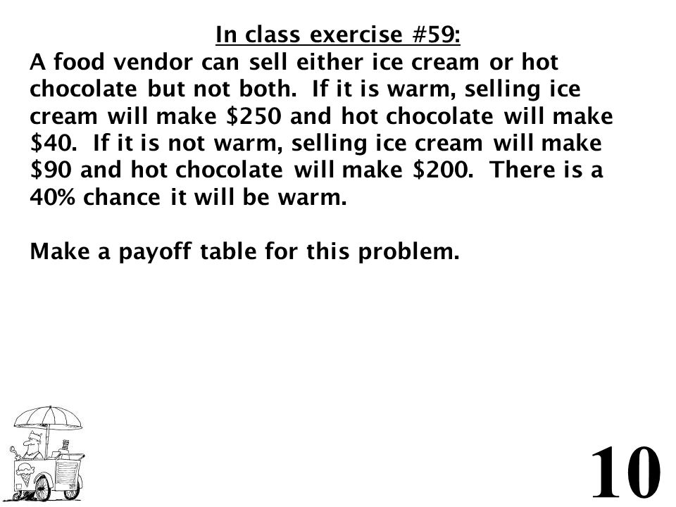 In class exercise #59: