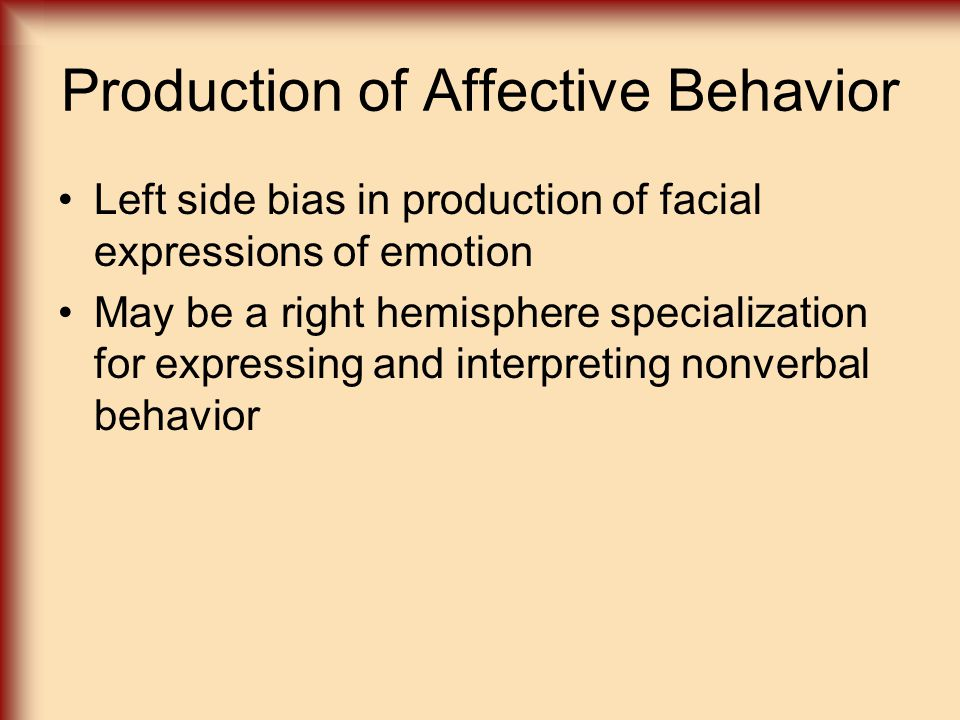 Production of Affective Behavior