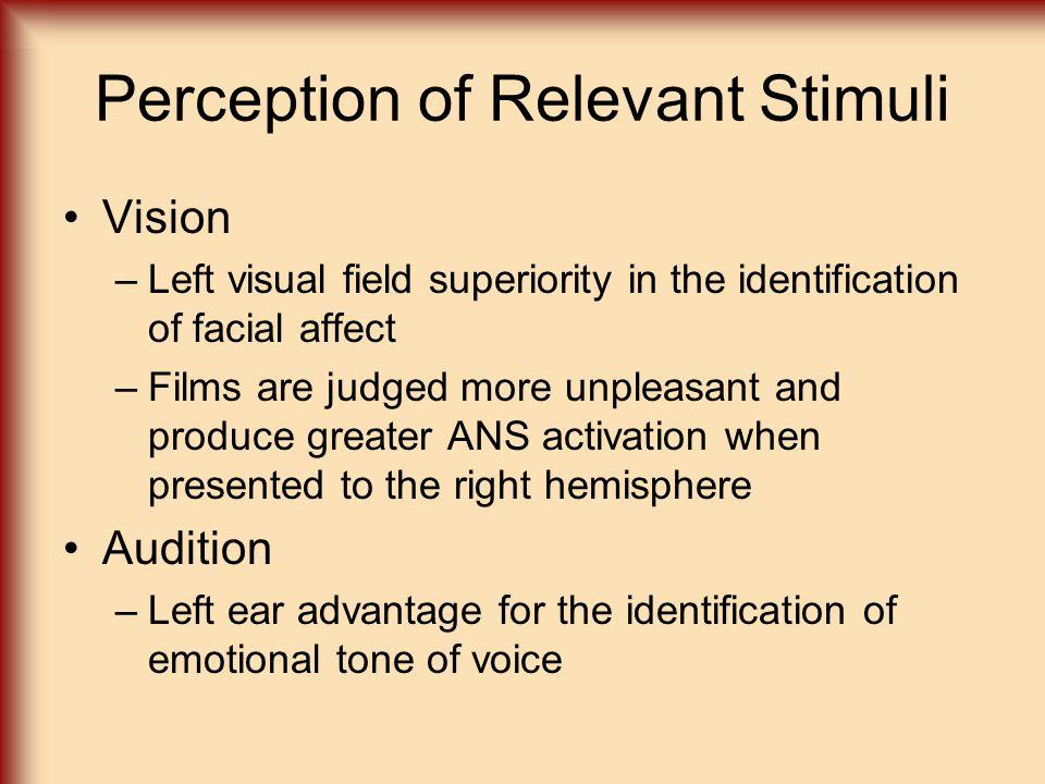 Perception of Relevant Stimuli