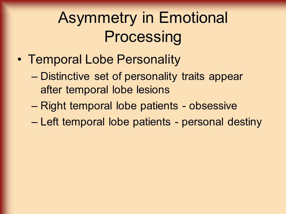 Asymmetry in Emotional Processing