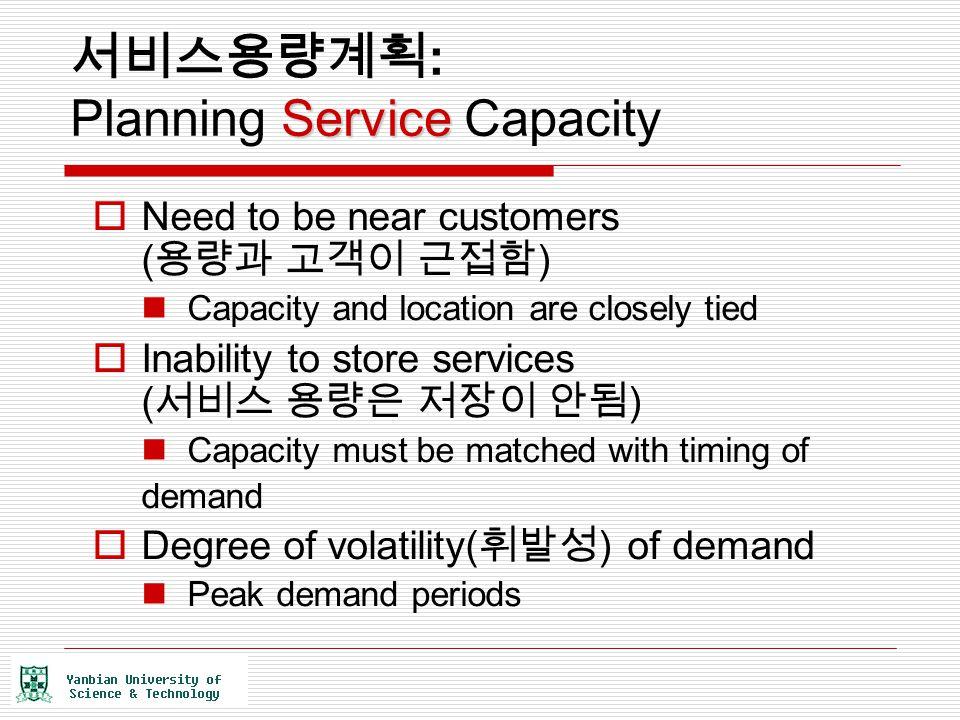 서비스용량계획: Planning Service Capacity