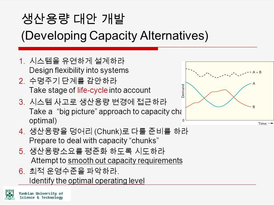생산용량 대안 개발 (Developing Capacity Alternatives)