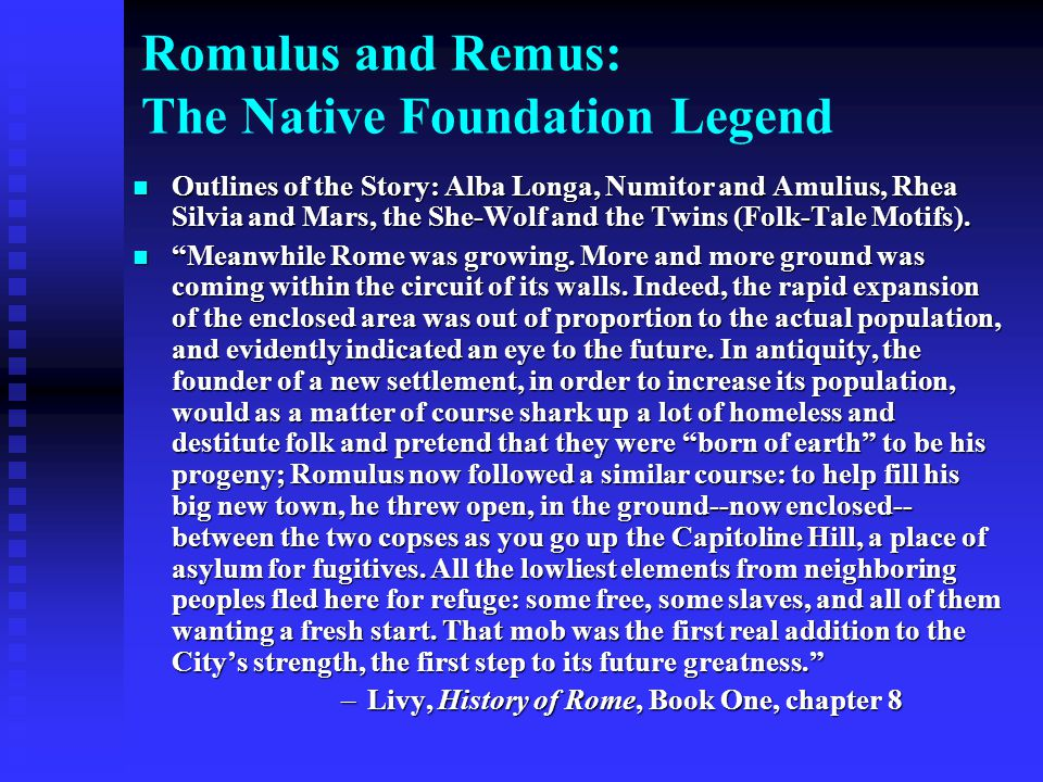 Romulus and Remus: The Native Foundation Legend