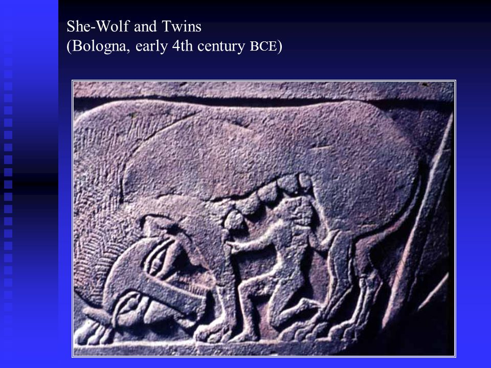 She-Wolf and Twins (Bologna, early 4th century BCE)