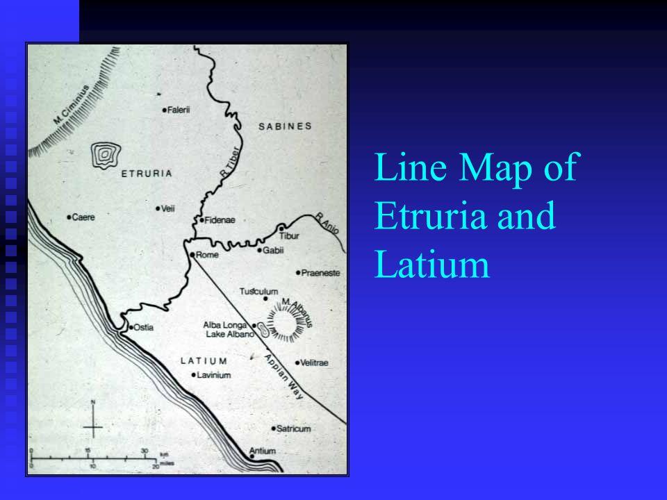 Line Map of Etruria and Latium