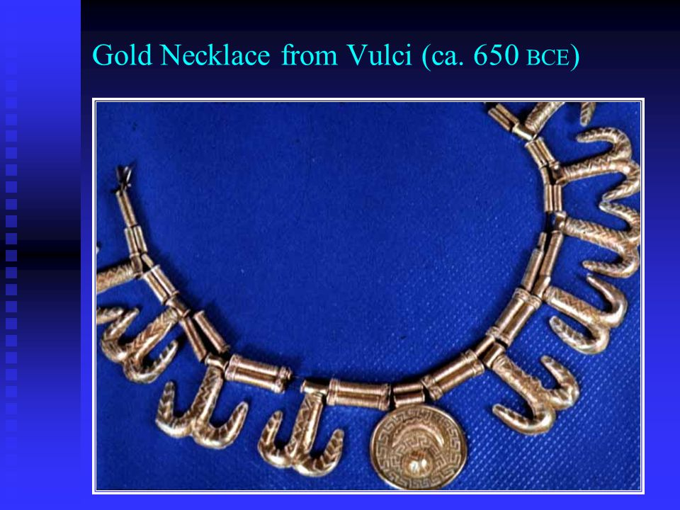 Gold Necklace from Vulci (ca. 650 BCE)
