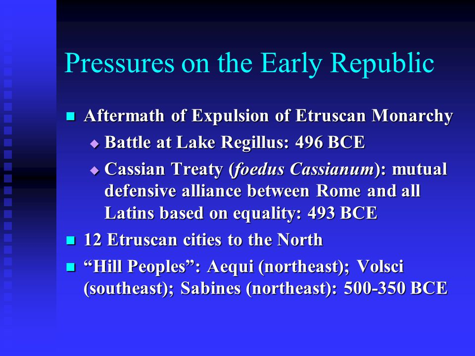 Pressures on the Early Republic