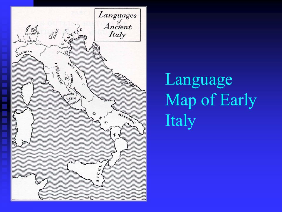 Language Map of Early Italy