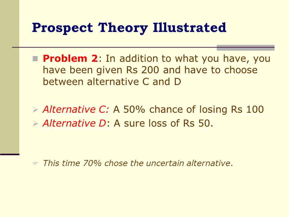 Prospect Theory Illustrated