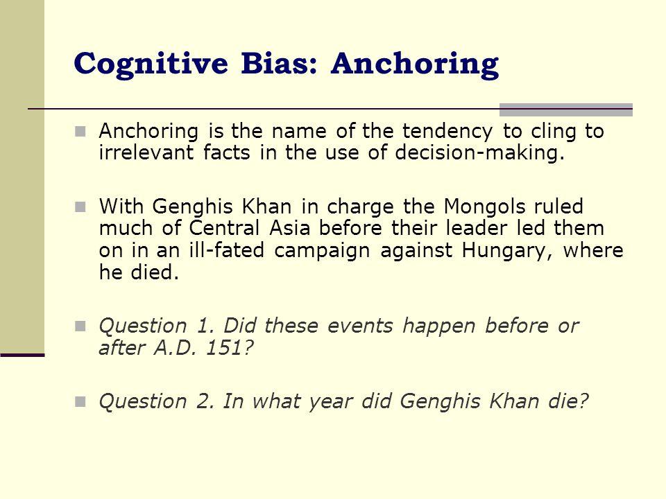 Cognitive Bias: Anchoring