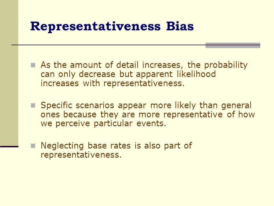 Representativeness Bias