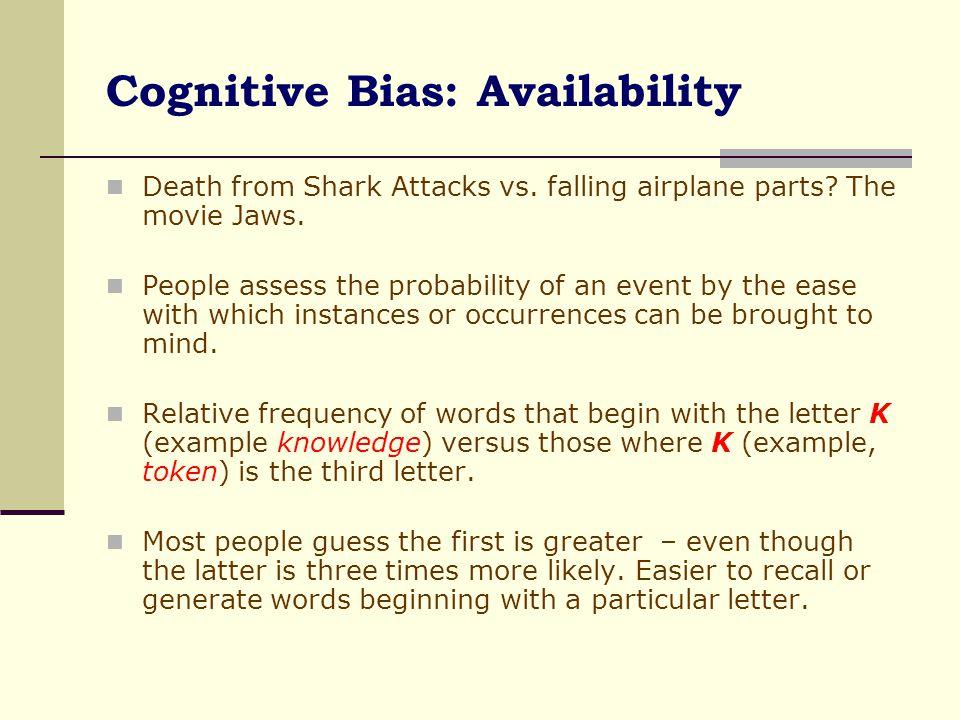 Cognitive Bias: Availability