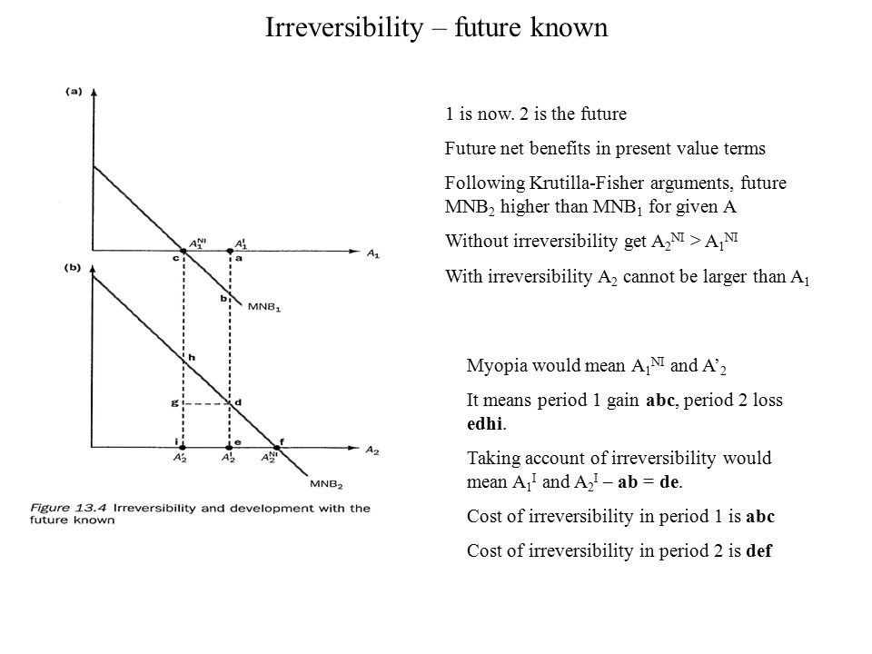 Irreversibility – future known
