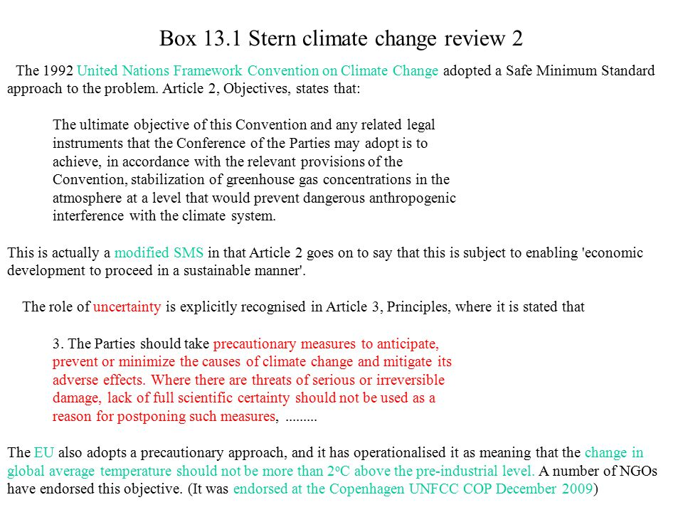Box 13.1 Stern climate change review 2